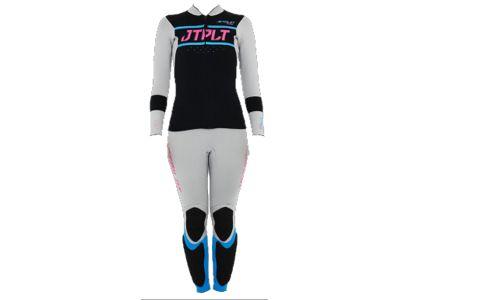 Jetpilot LADIES RX Race Suit Jane & Jacket Grey/Blue 20067